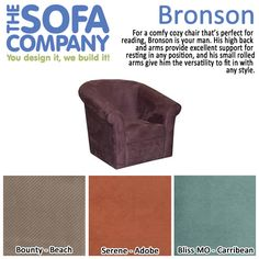 Product of the Week: Bronson!  For a comfy cozy chair that's perfect for reading, Bronson is your man.  http://www.thesofaco.com/custom-furniture/swivel-chairs/bronson.aspx  #comfortable #readingchair #TheSofaCompany