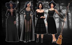 Sims 4 Cc Packs, Sims 4 Mm Cc, Sims Four, My Sims, Sims 4 Game Mods, Sims 4 Mods, Maxis, Witchy Outfit, Casas The Sims 4