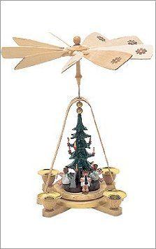 Amazon Com German Pyramid With Musician Angels And Christmas Tree Home
