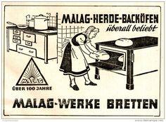 Original-Werbung/ Anzeige 1950  - MALAG HERDE / BACKÖFEN - BRETTEN - ca 110 x 75 mm