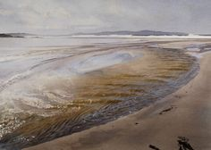 Beach River, St-Ives Bay - Bob Rudd - watercolor
