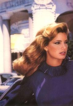 L'Oreal 1982  Model : Kelly Emberg via http://80s-90s-supermodels.tumblr.com