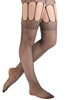 Got It Masquerade Tights - Black, Party