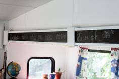 good place for a chalkboard....could write a scripture verse on it....