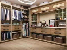 Some other great features about this walk-in are the overhead storage cabinets and cubbies for sunglasses and other valuables. In addition, there is ample storage space underneath the system for laundry baskets.  #closet #closets #customcabinets #customcloset #storage #organizing #organization #sunglasses #laundry #closetdesign #home #homes #homeideas #decor #homedecor #interiordesign #interior #instagood