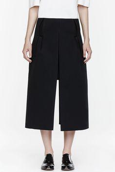 JW ANDERSON Black neoprene Split Skirt