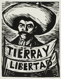 Leopoldo Méndez Mexican, 1902-1969, Political Cartoon [Zapata]