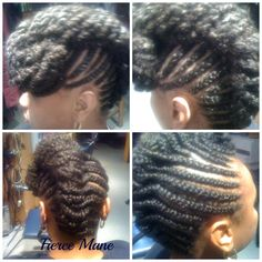 Fresh Marley Twist updo.