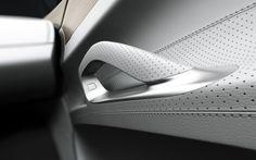 Car door handle detail