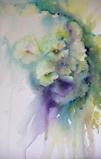 """Touched By Angels  "" Jean Haines  I ♥ Jean Haines watercolours"
