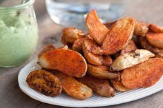 Roasted Potato Fries with Avocado Aioli combine 2 of the most perfect foods, potatoes and avocados! It's a snack or side dish you won't want to miss!