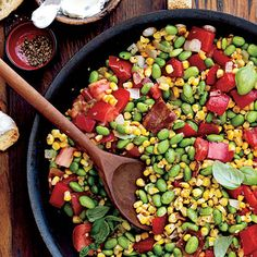 Learn how to make Edamame Succotash. MyRecipes has 70,000+ tested recipes and videos to help you be a better cook