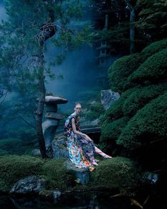 An Artist of the Floating World @britishvogue by Tim Walker and @kphelan123 @shonju @sambryantmakeup