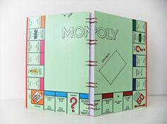 handmade Monopoly journal