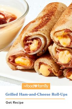Lunch Snacks, Yummy Snacks, Lunches, Yummy Food, Ham And Cheese Roll Ups, Appetizer Recipes, Appetizers, Grilled Ham And Cheese, Oscar Mayer