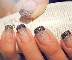 I love the glitter tips