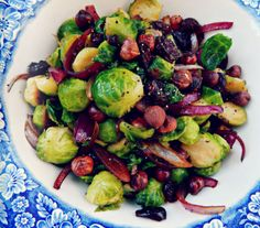brussel sprouts with caremelized beets and onions | Thanksgiving side dishes