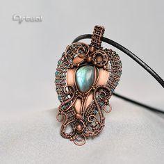 Wire jewelry wire wrap jewelry birthday gift copper by Artual