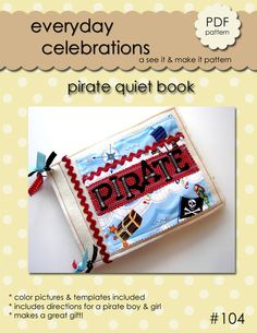 Pirate Quiet Book PDF Pattern by EverydayCelebrations on Etsy