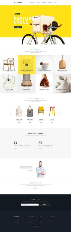 ECOSHOP is high quality eCommerce PSD Templates which designed for commercial use like clothes, cosmetics, furniture, gadgets, shoes, bags, home decore etc. #onlineshop #psdtemplate
