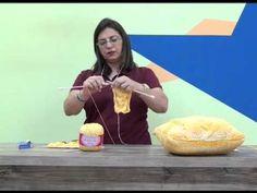 almofada em trico com Cisne MultiArte - YouTube