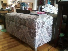 Upholstered Ottoman | Do It Yourself Home Projects from Ana White