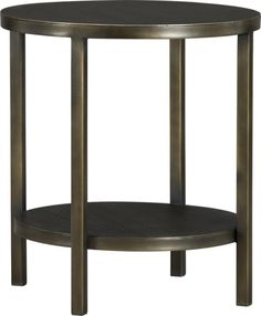 Echelon Round Side Table in Accent Tables | Crate and Barrel