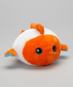 Take a look at this Bubble Clown Fish Plush by The Petting Zoo on #zulily today!