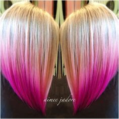 Worth getting in trouble at work for... Just Adoring This Pretty Pink Sombre | Modern Salon Blonde Hair With Pink Tips, Pink Ombre Hair, Hot Pink Hair, Blue Hair, Lilac Hair, Pastel Hair, Pastel Pink, Hair Color Pictures, Vibrant Hair Colors