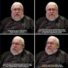 George RR Martin slipping in some hidden story plots