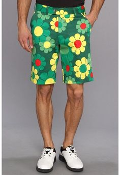 1704675192 LOUDMOUTH shorts Green Augusta Magic Floral mens GOLF FLAT FRONT size 32  #LoudmouthGolf #DressShorts