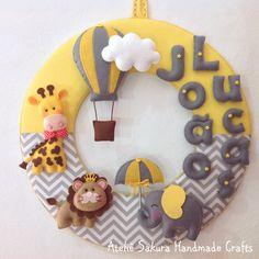Guirlanda Porta de Maternidade Personalizado para João Lucas #decor #babyroom…