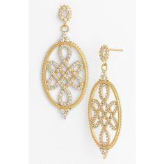 Women's Freida Rothman Love Knot Drop Earrings ($180) ❤ liked on Polyvore featuring jewelry, earrings, gold, love knot earrings, glitter jewelry, love knot jewelry, glitter earrings and drop earrings