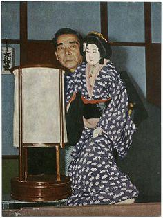 Japanese Puppets Bunraku | Bunraku, Japanese Puppet Theater. Hadesugata Onna Maiginu & Sakaya ...