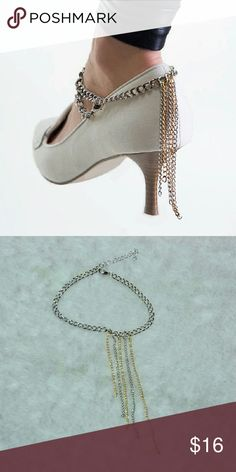 ✨NEW item!✨ High heel chain Shoe jewelry! Only one, not a pair. (That's how its worn) ankle foot pump chain.  Hi Sweety!  Thanks for looking at my closet! I always have some sort of sale going on and new items arrive weekly. Be sure to check back soon!!  Happy Shopping! Jewelry Bracelets