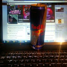 #Redbull .... my favorite when I'm in the studio or touring for a gig ... or simply chilling out.  #MOKKSHA #facebook #dj #studio #newyear #SelfieParty