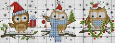 Cross Stitch Owl, Cat Cross Stitches, Cross Stitch Bookmarks, Cross Stitch Charts, Cross Stitching, Cross Stitch Embroidery, Cross Stitch Patterns, Loom Patterns, Christmas Tree Ornaments To Make