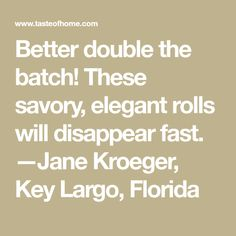 Better double the batch! These savory, elegant rolls will disappear fast. Potluck Recipes, Holiday Recipes, Garlic Cheese Biscuits, Different Types Of Bread, Sauteed Greens, Bread Cake, Rolls Recipe, Vintage Recipes, Easy Meals