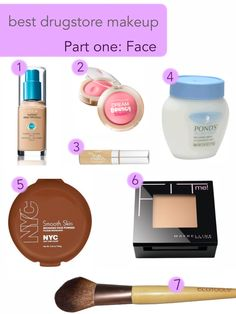 best drugstore makeup~ Part one: Face