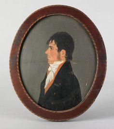 jacob eichholtz   Jacob Eichholtz(American, 1776-1842), ...   Antique Portraits & Silh ...
