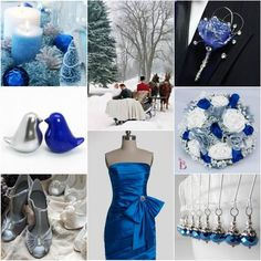 2014 winter wedding colors and themes   ... Winter Wedding Colors: Blue Shades + Silver   VPonsale Wedding