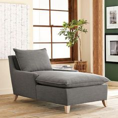 I can see this chaise beginning as a chair from a tag sale...upgrading and modifying it into this wonderful chaise!