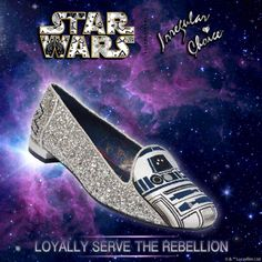 'Astromech' Our first R2-D2 flat. Loyally serve The Rebellion. Limited Edition Irregular Choice | Star Wars™ landing ONLINE 12pm Friday 27th May and in Irregular Choice STORES 12pm Wednesday the 1st of June. http://www.irregularchoice.com/collections/star-wars.html