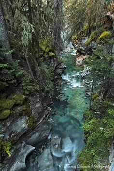 Johnston Canyon walk in Banff National Park, Alberta, Canada