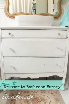 How to Turn a Dresser into a Vanity...and not lose any drawers by Circa Dee