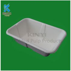 Recycled disposable fiber paper pulp kidney dish trays