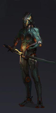 ArtStation - Mechanical Warrior, bin kurt