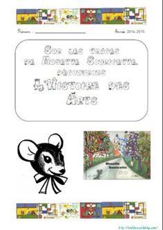 Musette Souricette, programmation histoire des arts et page de garde