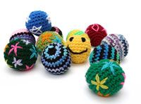 These are actually crocheted ferret toys - patterns (just crochet patterns for balls)