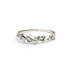 Silver Gaze Marquis Small Cluster Band Ring | Alexis Bittar